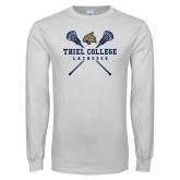 White Long Sleeve T Shirt-Lacrosse Womens
