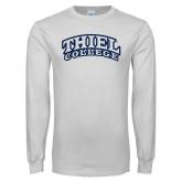 White Long Sleeve T Shirt-Athletic Logo
