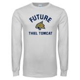 White Long Sleeve T Shirt-Future Thiel Tomcat