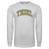 White Long Sleeve T Shirt-Thiel Block Arched