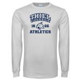 White Long Sleeve T Shirt-Thiel College Athletics