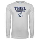White Long Sleeve T Shirt-Thiel Tomcats