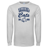 White Long Sleeve T Shirt-Thiel College Cats
