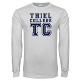 White Long Sleeve T Shirt-Thiel College TC