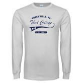 White Long Sleeve T Shirt-Thiel College Phi Delta Phi