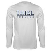 Performance White Longsleeve Shirt-Thiel Logo