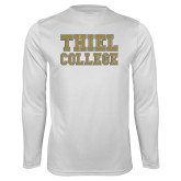Performance White Longsleeve Shirt-Thiel College