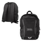 Atlas Black Computer Backpack-Thiel Logo