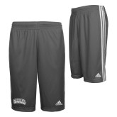Adidas Climalite Charcoal Practice Short-Athletic Logo