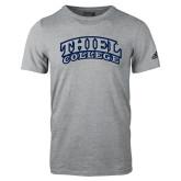 Adidas Sport Grey Logo T Shirt-Athletic Logo