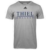 Adidas Climalite Sport Grey Ultimate Performance Tee-Thiel Logo