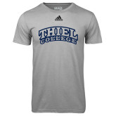 Adidas Climalite Sport Grey Ultimate Performance Tee-Athletic Logo