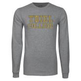 Grey Long Sleeve T Shirt-Thiel College