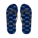 Ladies Full Color Flip Flops-Thiel Logo