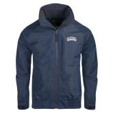 Navy Charger Jacket-Athletic Logo