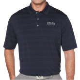 Callaway Horizontal Textured Navy Polo-Thiel Logo