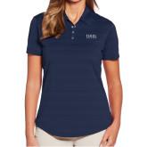Ladies Callaway Horizontal Textured Navy Polo-Thiel Logo