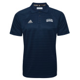Adidas Climalite Navy Jacquard Select Polo-Athletic Logo