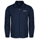 Full Zip Navy Wind Jacket-Thiel Logo