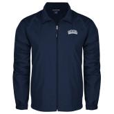 Full Zip Navy Wind Jacket-Athletic Logo