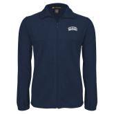 Fleece Full Zip Navy Jacket-Athletic Logo