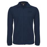 Fleece Full Zip Navy Jacket-Thiel Logo