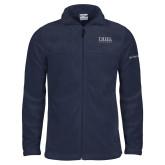 Columbia Full Zip Navy Fleece Jacket-Thiel Logo