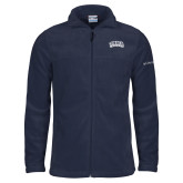 Columbia Full Zip Navy Fleece Jacket-Athletic Logo