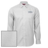 Red House White Diamond Dobby Long Sleeve Shirt-Thiel Logo
