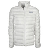 Columbia Lake 22 Ladies White Jacket-Thiel Logo