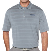 Callaway Horizontal Textured Steel Grey Polo-Thiel Logo