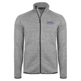 Grey Heather Fleece Jacket-Thiel Logo