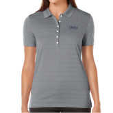 Ladies Callaway Opti Vent Steel Grey Polo-Thiel Logo