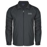 Full Zip Charcoal Wind Jacket-Thiel Logo