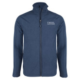 Navy Heather Softshell Jacket-Thiel Logo