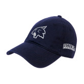 Navy Twill Unstructured Low Profile Hat-Athletic Mascot