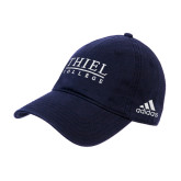 Adidas Navy Slouch Unstructured Low Profile Hat-Thiel Logo