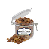 Deluxe Nut Medley Small Round Canister-Thiel Logo