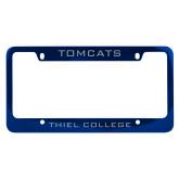 Metal Blue License Plate Frame-Tomcats