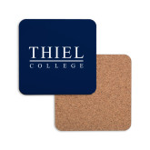 Hardboard Coaster w/Cork Backing-Thiel Logo
