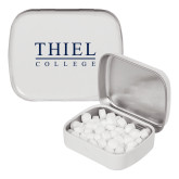 White Rectangular Peppermint Tin-Thiel Logo