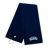 Navy Golf Towel-Athletic Logo
