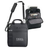 Kenneth Cole Black Vertical Checkpoint Friendly Messenger-Thiel Logo