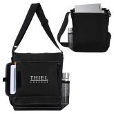 Impact Vertical Black Computer Messenger Bag-Thiel Logo