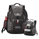 High Sierra Big Wig Black Compu Backpack-Thiel Logo