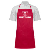 Full Length Red Apron-Stacked Wordmark