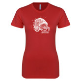 Next Level Ladies SoftStyle Junior Fitted Red Tee-Leave a Legacy
