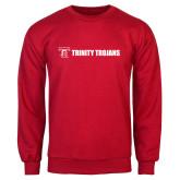 Red Fleece Crew-Wordmark