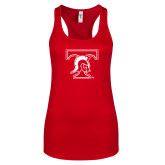 Next Level Ladies Red Ideal Racerback Tank-Primary Mark