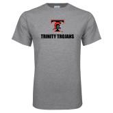 Grey T Shirt-Stacked Wordmark